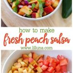Fresh peach salsa is delicious with chips, on top of fish or pork, or spooned ov...