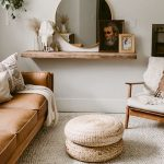 Light brown honey oak oak leather sofa, 3 seats | Articles Wood Modern ...