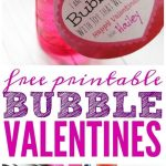 Bubbles Valentine Printable! An easy non-candy valentine's day treat for friends...