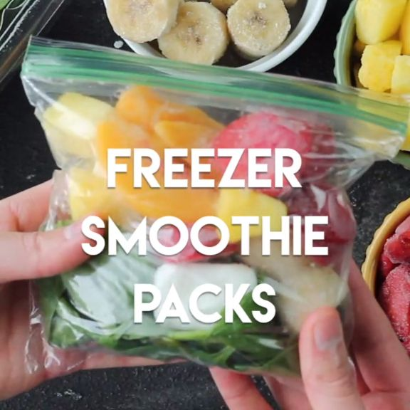 Prep these freezer smoothie packs, and when you're ready, just add milk, water…