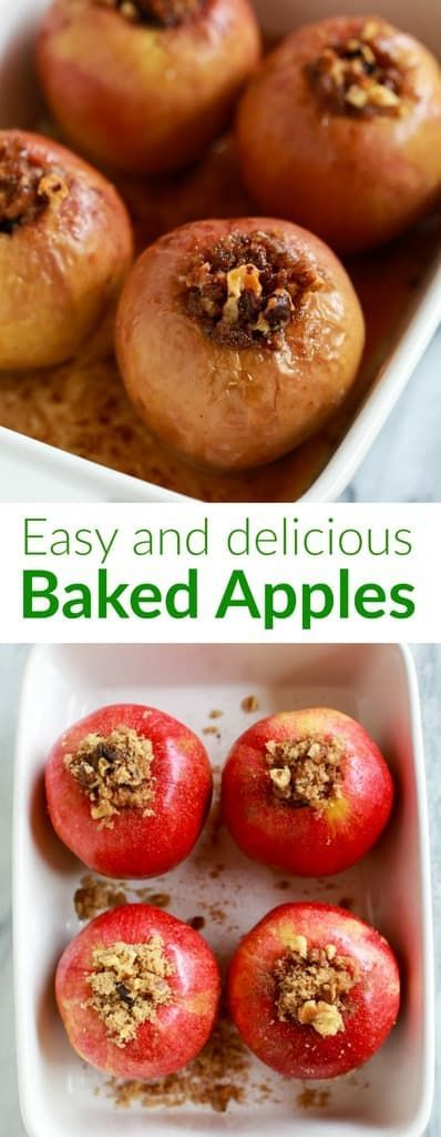 Baked Apples are a favorite healthy dessert, made with crisp fresh apples stuffe…