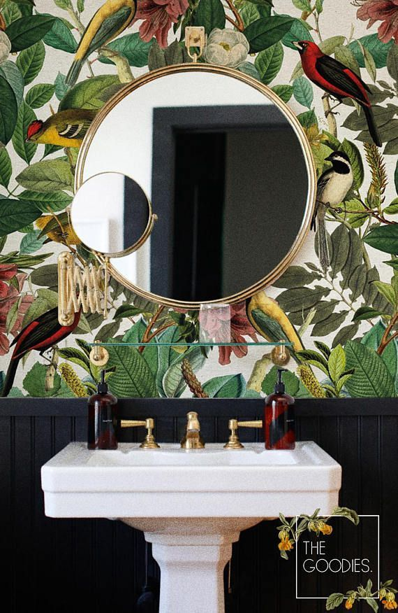 Botanical removable wallpaper Colors of nature wall mural! I love this look! So …