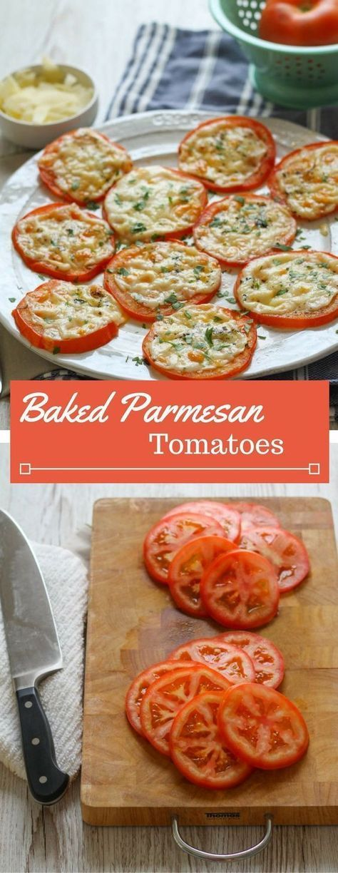 Need a new veggie side to serve with dinner? Try these simple baked tomatoes wit…