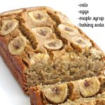 Healthy 5-Ingredient Flourless Banana Bread. Oats, eggs, maple syrup, baking sod...