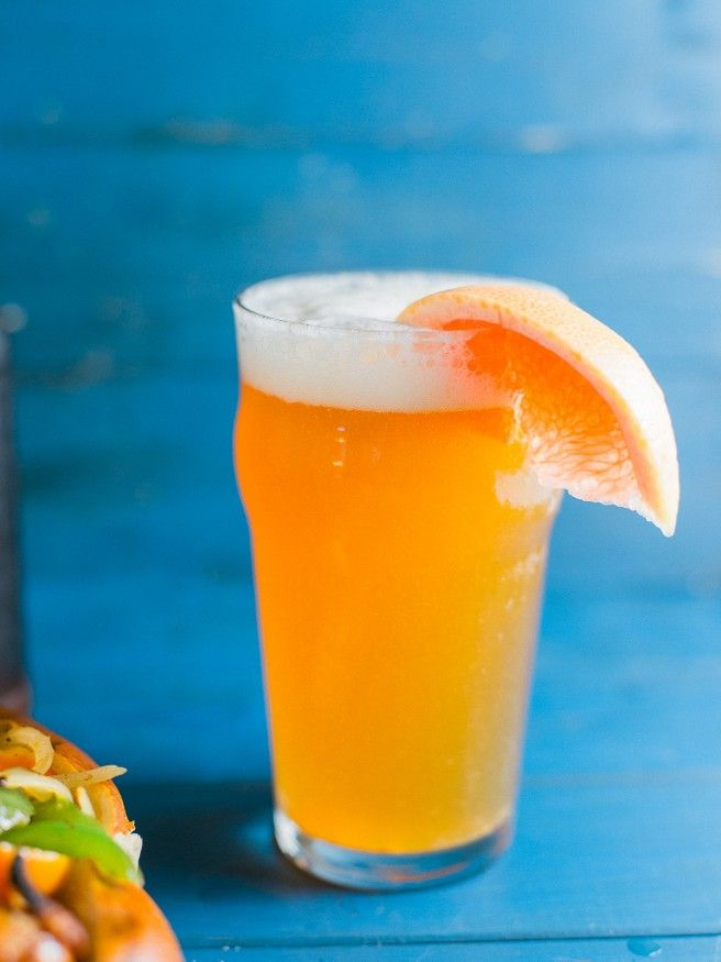 Grapefruit Honey Ale Home brewed and paired with a Beer Brat! #beer #craftbrew #…