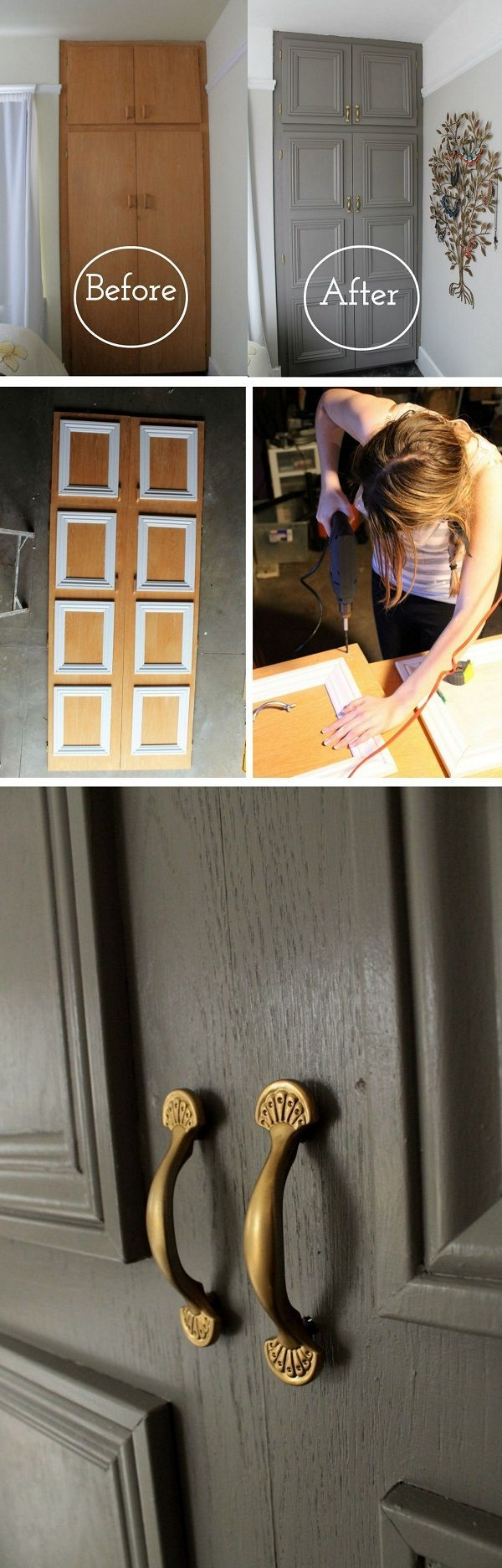 16 simple DIY door projects for stunning decor on a budget #dekor #di …