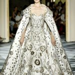 Zuhair Murad is inspired by imperial Russia for this haute couture gown in white...
