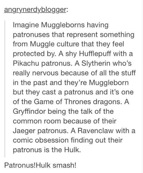 So awesome. LOL it would be great if someone cast a patronus and out pops Twilig…