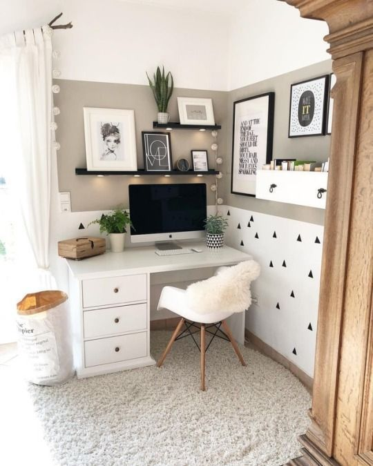 35 Home Office Ideas That Will Make You Want to Work All Day  #Day #Home #Idea #…