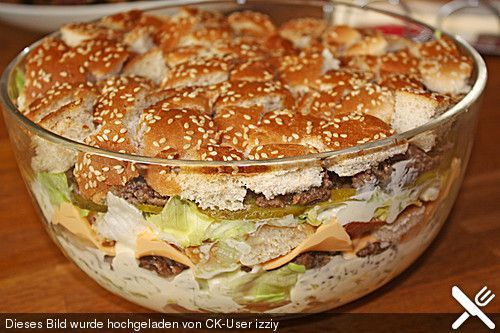 Big Mac Salad, a popular recipe from the Party category. Reviews: 236. D …