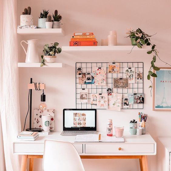 30+ Girly Pink Home Office Ideas That You Want to Work All Day – Be …