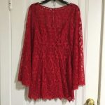 Free People Guinevere Red Lace Dress Size 4 Free People Guinevere Red Lace Dress...