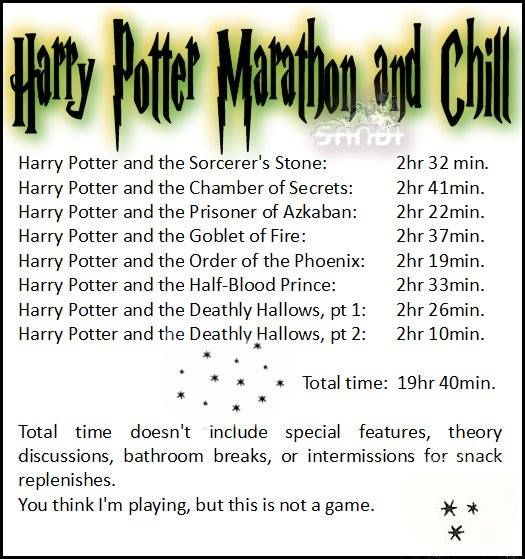 Anyone wanna Harry Potter and chill? And by that, I really mean HP & chill.