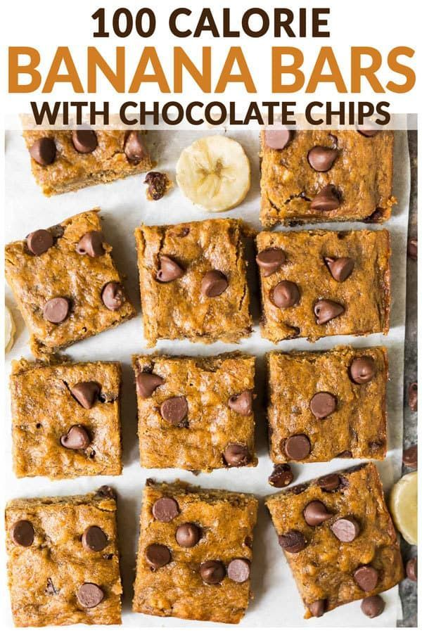 Healthy Banana Bars with Chocolate Chips. Moist, chewy, and easy to make. Kids l…