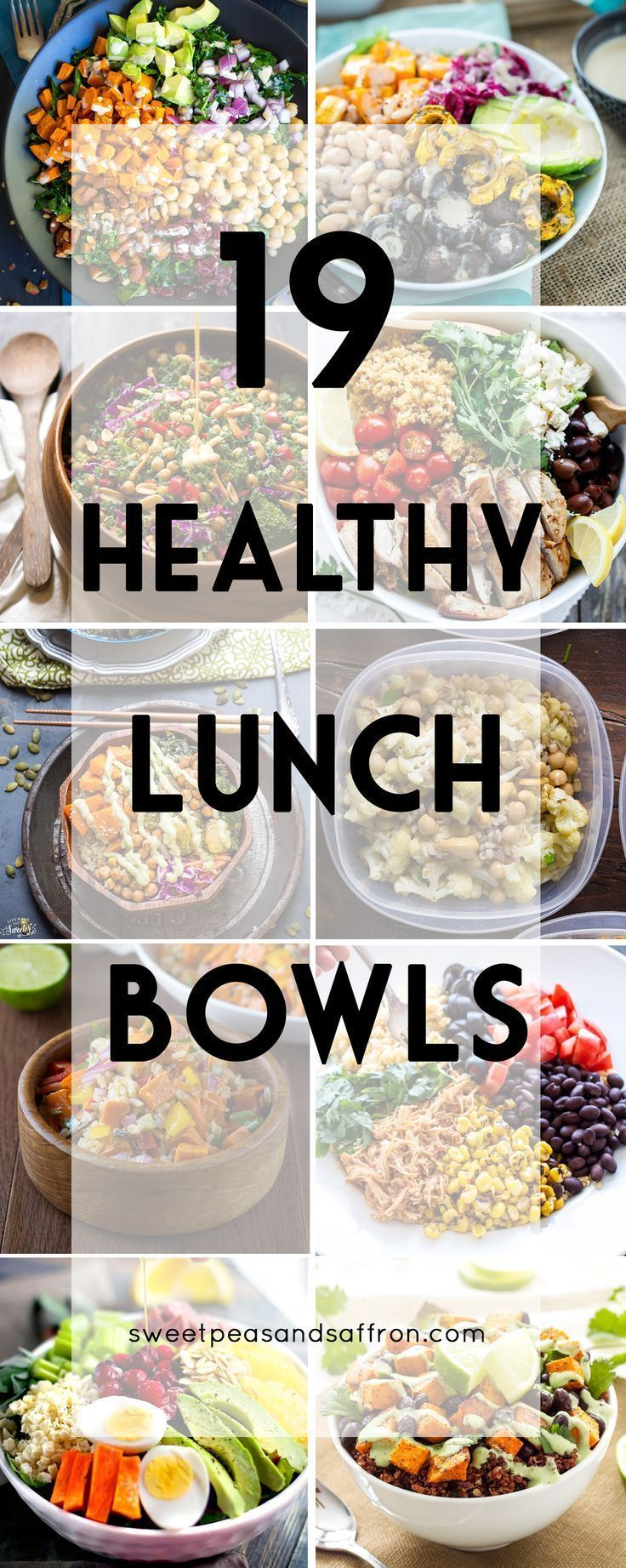 19 Healthy Lunch Bowls! These are all make-ahead lunch recipes that are perfect …