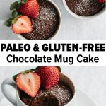 A chocolate mug cake that's gluten-free and paleo! It's a delicious, healthy and...