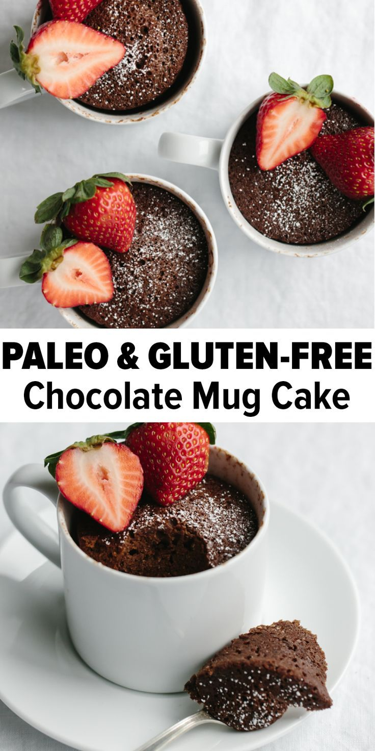 A chocolate mug cake that's gluten-free and paleo! It's a delicious, healthy and…