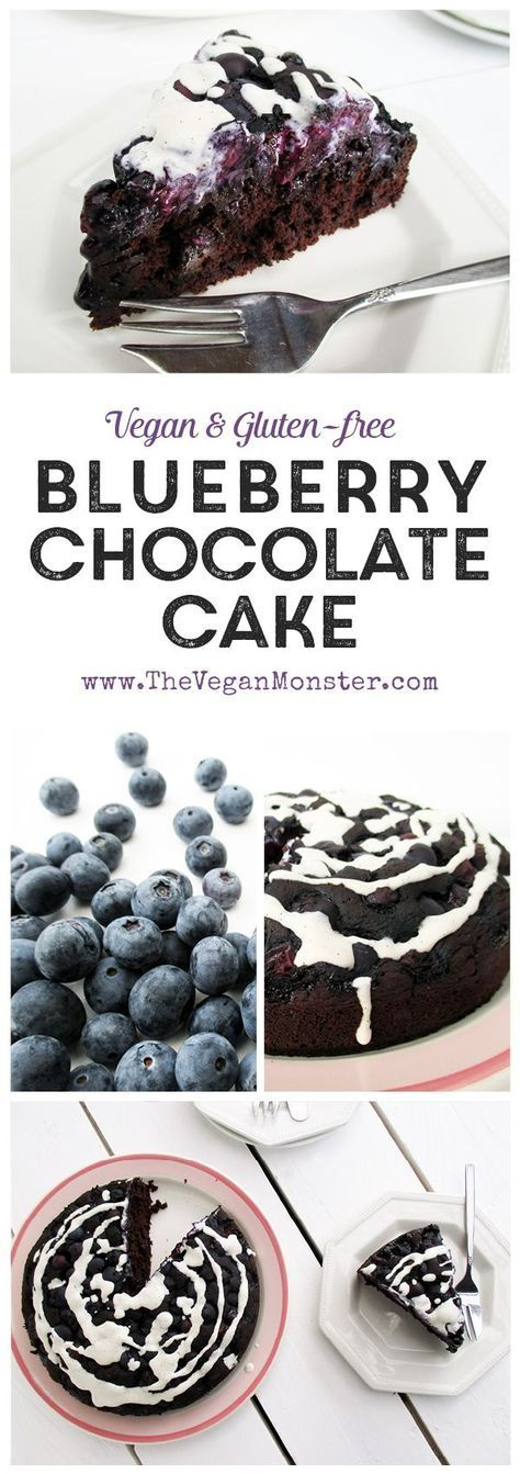 Blueberry Chocolate Cake, Vegan, Gluten-free, Without Refined Sugar, Low Fat :)