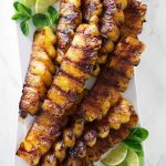 Cinnamon sugar gives this grilled pineapple a delicious caramelized coating and ...