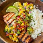Grilled Lime Salmon With Avocado-Mango Salsa and Coconut Rice | 31 Delicious Thi...