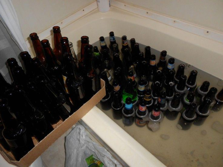 How to clean and sanitize beer bottles for home brewing using what you (probably…