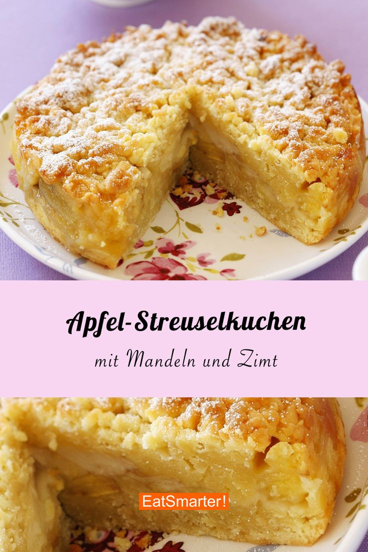 OMG! This apple crumble cake with cinnamon and almonds is so wonderfully juicy and …