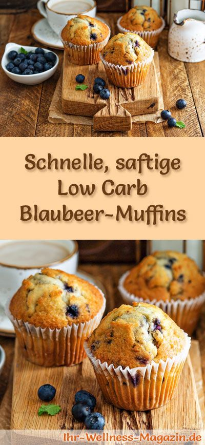 Recipe for juicy low carb blueberry muffins – low carbohydrate, calorie-reduced …