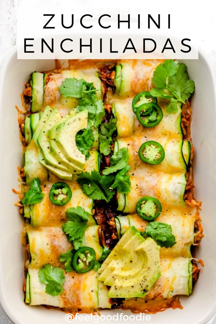 Swap the tortillas for thinly sliced zucchini, and try this low carb keto friend…