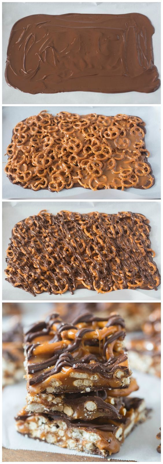 These simple, 4-ingredient Salted Chocolate Caramel Pretzel Bars will quickly be…