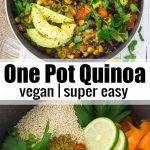 This vegan one pot Mexican quinoa with black beans and corn is one of my favorit...