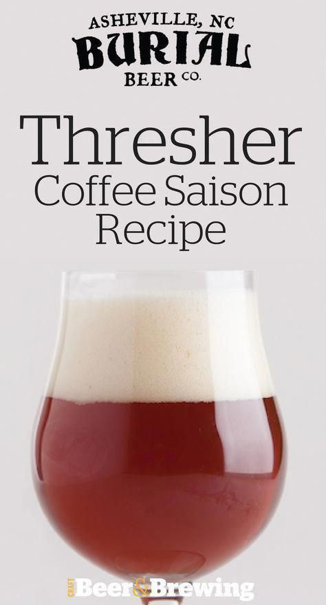 Thresher Coffee Saison Recipe #homebrewingdiy #BestHomeBrewingKits