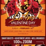 Valentine Day Latino Party Flyer Template - Envato Market #flyer #holiday #Flyer...