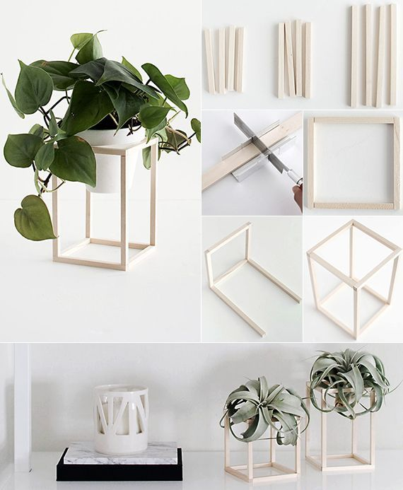 do it yourself decoration in black, white and wood # make #black #selve # …