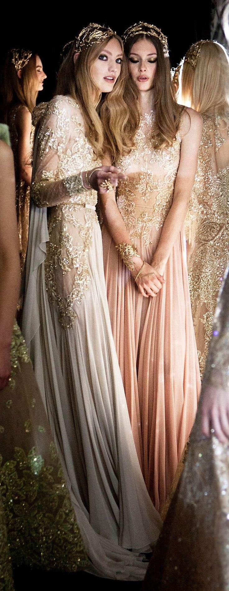 * graceful gowns* backstage at Elie Saab fashion show ♥