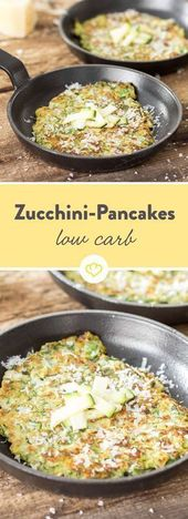 As crispy as Fritters! Low carb pancakes with zucchini