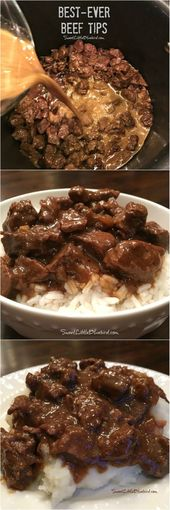 Best-Ever Beef Tips Today's tried and true is a recipe that's been a fam…