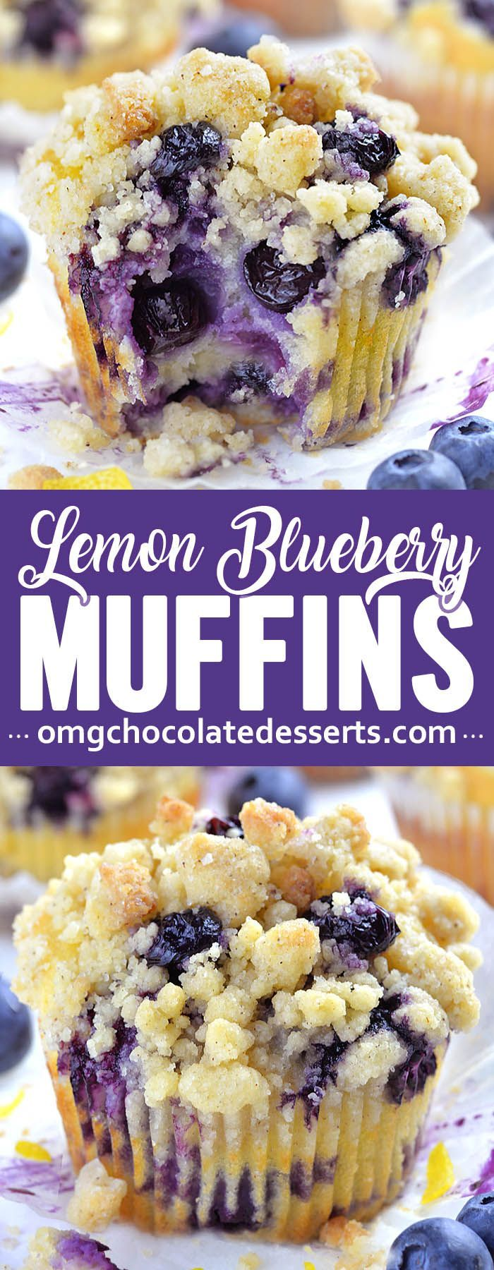 Blueberry Lemon Muffins are a delicious breakfast choice on a spring or summer d…