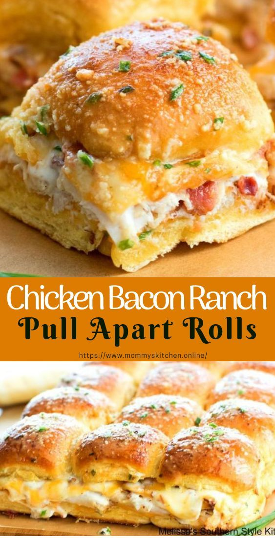 Chicken Bacon Ranch Take the roles apart #pullApartRolls #easyrecipe #abe …