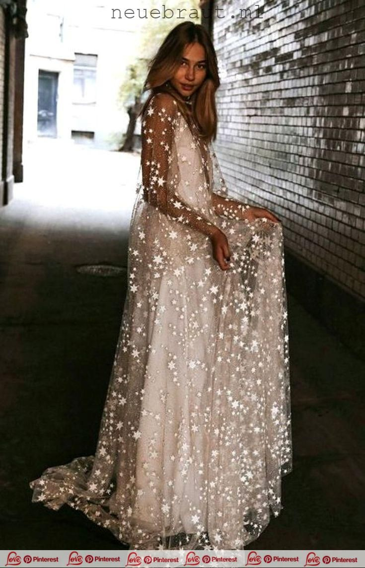 Counting Stars Bohemian Wedding Dress This unique Bohemian wedding …