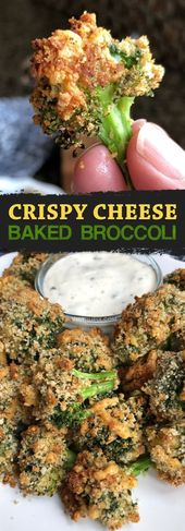 Crispy Cheese Oven Baked Broccoli – This healthy broccoli side dish goes well wi…