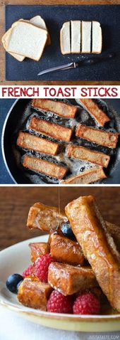 Easy French Toast Sticks (great for dipping!) Kids love these.– Quick, fast and…