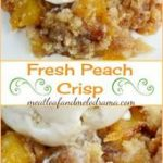 Fresh Peach Crisp Canning peach preserves is a perfect way to enjoy the taste of...