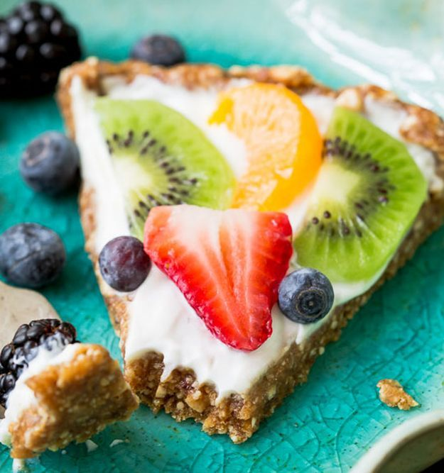 Greek Yogurt Fruit Tart | 11 Healthy Greek Yogurt Recipes | Healthy Desserts You…