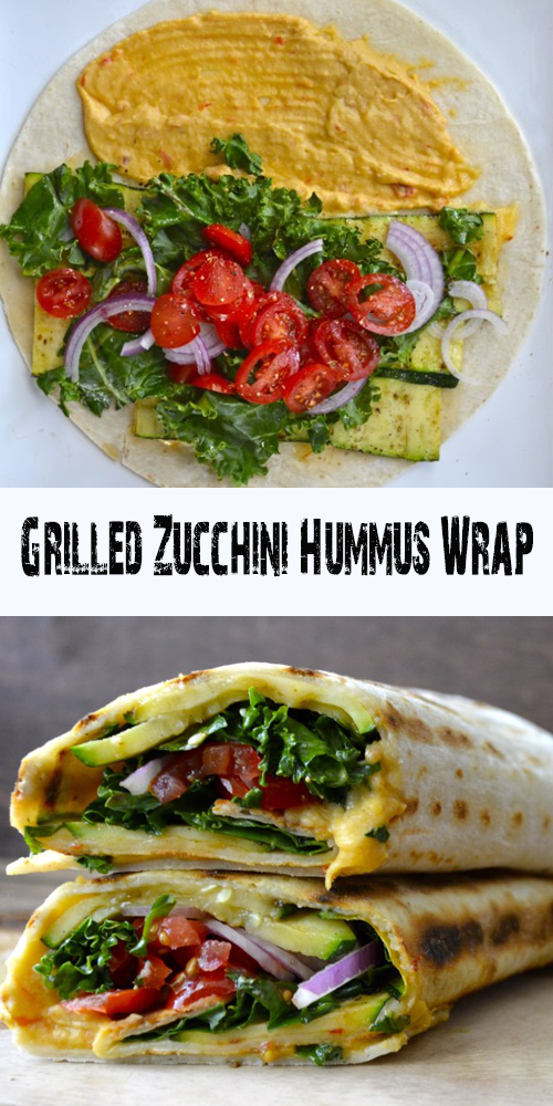 Grilled Zucchini Hummus Wrap – All About Health Food Recipes