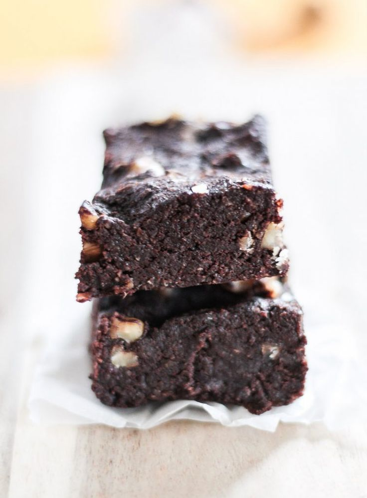 Healthy vegan, sugar-free and gluten-free brownies: in just a few minutes you can …