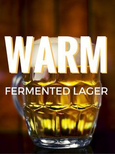 Lager Fermented At Ale Temperatures?