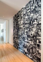 Living ideas corridor photo wall. Photos are always eye-catching, as they are quite p …