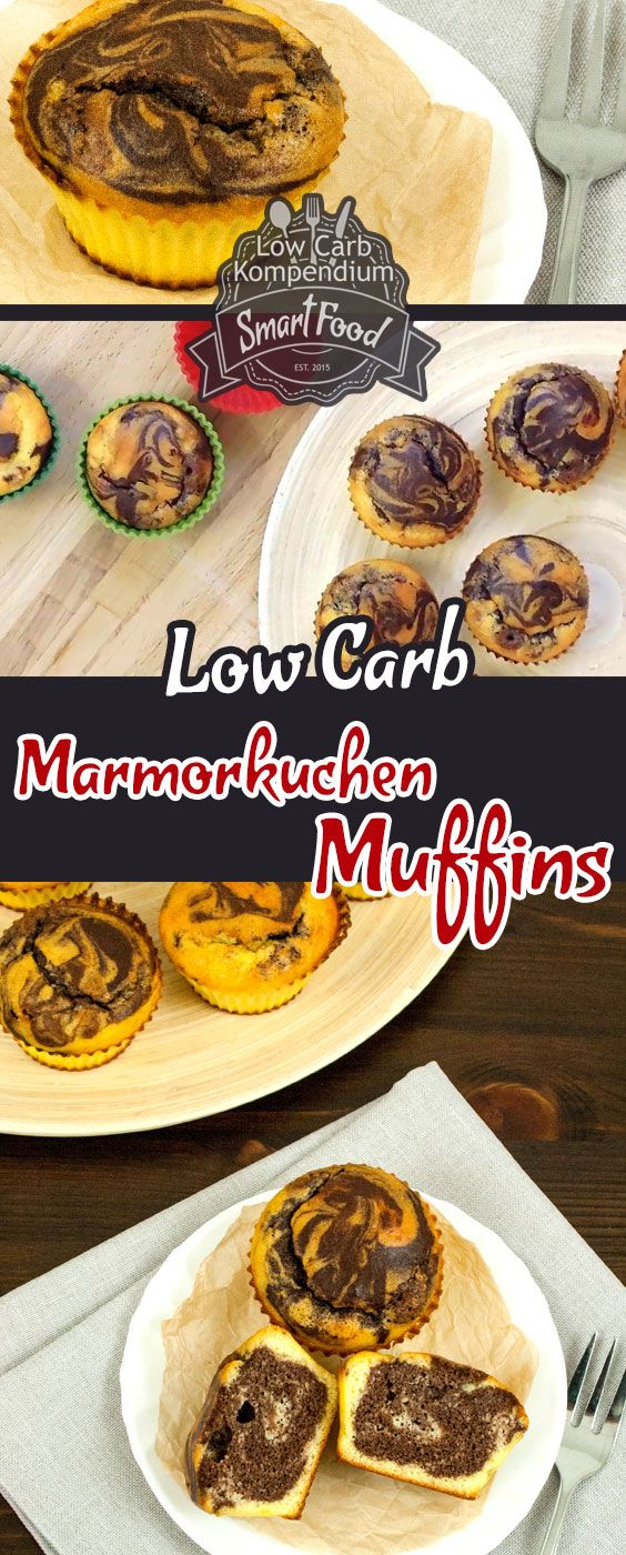 Marble cake muffins – The classic marble cake as a low-carb variant in fl …