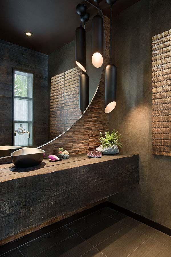 Modern bathroom design with light modern bathroom design in industrial style with …