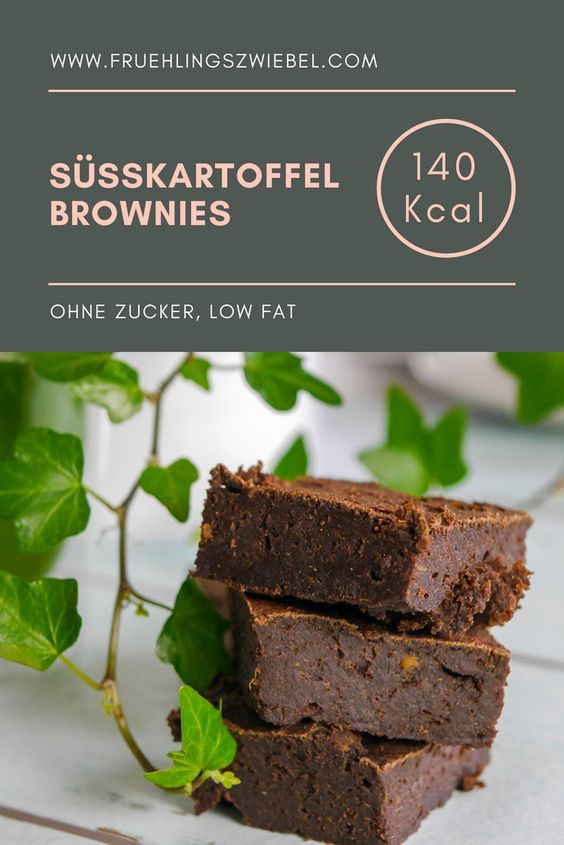 My recipe for healthy brownies from sweet potatoes. It is sweetened with delicious …